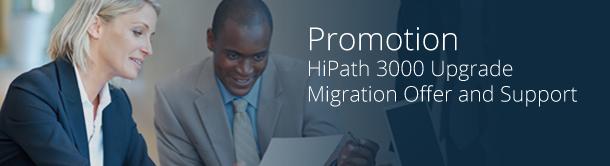 Предложение и поддержка в связи с переходом на новую технологию с HiPath 3000
